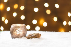 Beautiful christmas decoration, with light bulb Stock Photos