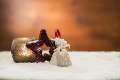 Beautiful christmas decoration, with light bulb Royalty Free Stock Image