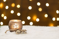 Beautiful christmas decoration, with light bulb Stock Photo