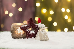 Beautiful christmas decoration, with light bulb Stock Photography