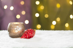 Beautiful christmas decoration, with light bulb Stock Images