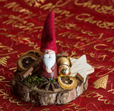 Beautiful christmas decoration. With Santa Claus and Zimt Stock Photo