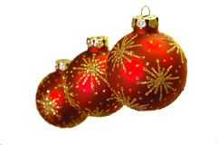 Beautiful christmas decorations. Christmas decorations, three red balls Stock Photography
