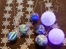 Beautiful Christmas decorations background Stock Photos