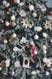 Beautiful Christmas decorations. And decor stock photography