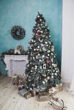 Beautiful Christmas decorations. And decor royalty free stock photo