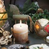 Beautiful Christmas decorations Stock Photography
