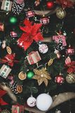Beautiful Christmas decorations. And decor stock photo