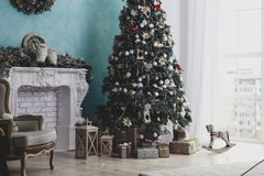 Beautiful Christmas decorations. And decor royalty free stock image