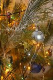 Beautiful Christmas decorations for home and Christmas trees. Beautiful Christmas decorations for the home and the Christmas tree, shiny birds, unusual balls Royalty Free Stock Photo
