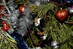 Beautiful Christmas decorations for home and Christmas trees. Beautiful Christmas decorations for the home and the Christmas tree, shiny birds, unusual balls Stock Image