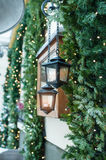 Beautiful Christmas decorations in the house.  stock images