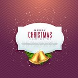 Beautiful christmas design with text space and golden bell Royalty Free Stock Photo