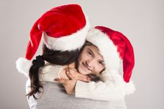 Beautiful christmas family Royalty Free Stock Photos