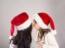 Beautiful christmas family Stock Images