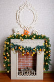 Beautiful Christmas fireplace Stock Images