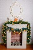 Beautiful Christmas fireplace Stock Images