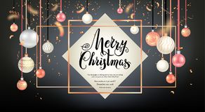 Beautiful christmas frame card Stock Photography