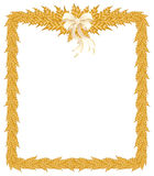 Beautiful Christmas frame with white bow Stock Image