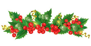 Beautiful Christmas garland. Contains transparent objects. EPS10 Stock Photos