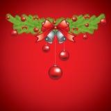 Beautiful Christmas garland Stock Image