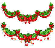 Beautiful Christmas garlands Stock Photography