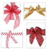 Beautiful Christmas Gifts With Bows Stock Photography