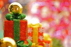 Beautiful Christmas gifts Stock Photography