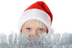 Beautiful christmas girl. Stock Images