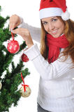 Beautiful christmas girl. Royalty Free Stock Photos