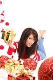 Beautiful christmas girl Stock Images
