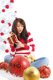 Beautiful christmas girl Stock Photography