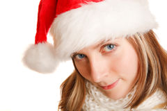 Beautiful christmas girl Stock Photo