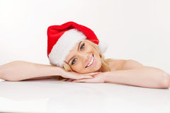 Beautiful christmas girl Stock Image