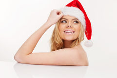 Beautiful christmas girl Royalty Free Stock Photos