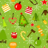 Beautiful Christmas Greeting pattern. Vector. Royalty Free Stock Images