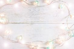 Beautiful christmas holiday background with soft lights Stock Images