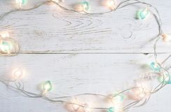 Beautiful christmas holiday background with soft lights Royalty Free Stock Photos