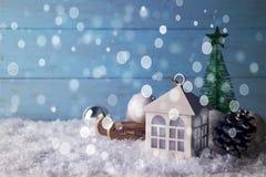 Beautiful Christmas house Royalty Free Stock Photography