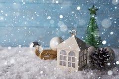 Beautiful Christmas house Stock Photo