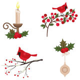 Beautiful Christmas icons set Stock Photography