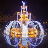 Beautiful Christmas illumination at the park Stock Image