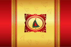 Beautiful christmas illustration vector Stock Image