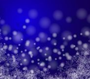 Free Beautiful Christmas Image . White Snow Flakes On A Blue Background. Abstract Stock Images - 129767014