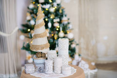 Beautiful Christmas interior decoration Stock Photo