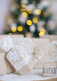 Beautiful Christmas interior decoration Stock Images
