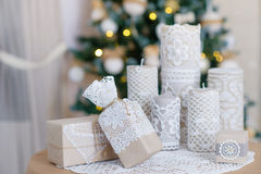 Beautiful Christmas interior decoration Stock Photography