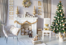 Beautiful Christmas interior decoration Royalty Free Stock Photography