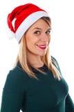 Beautiful Christmas-lady Royalty Free Stock Photo
