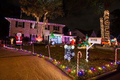 Beautiful christmas light in Houston, Texas royalty free stock photos